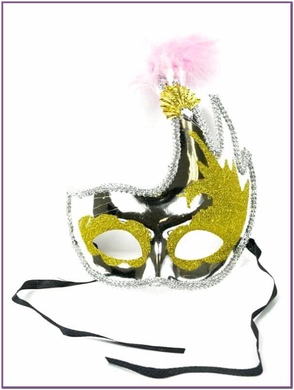 Асимметричная маска серебряная