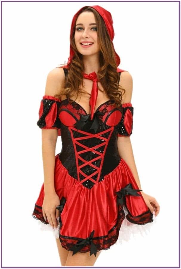Ажурный костюм Красной шапочки