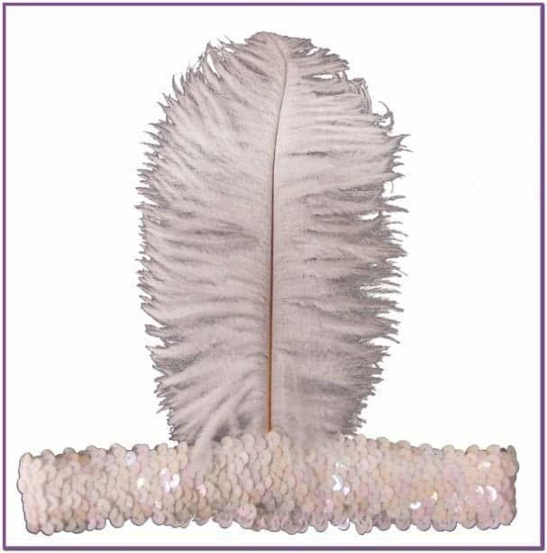 Белая повязка на волосы