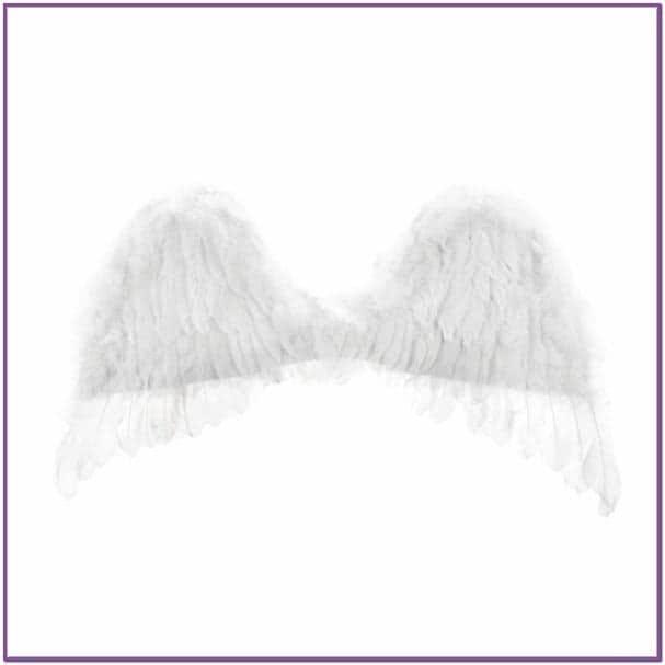 Белые перьевые крылья