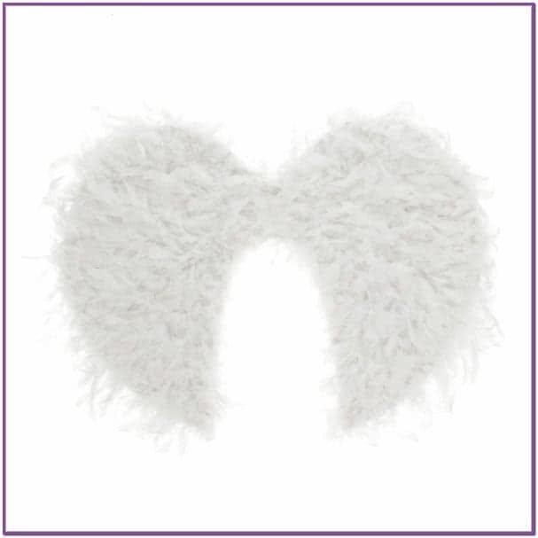 Белые пушистые крылья ангела