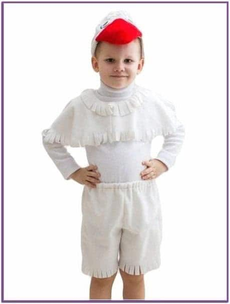 Белый костюм гуся