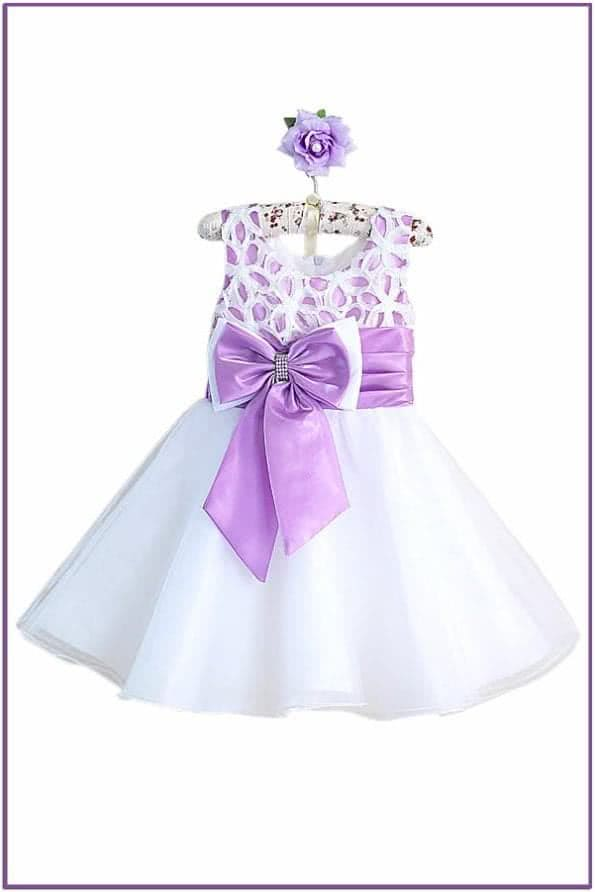 Бело-фиолетовое платье