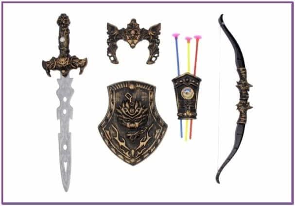 Большой набор оружия для воина