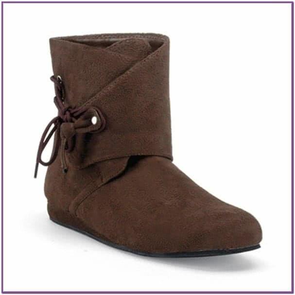Ботинки эпохи Ренессанса коричневые
