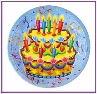 Бумажные тарелки Праздничный торт