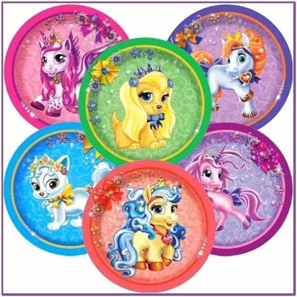 Бумажные тарелки Волшебные питомцы