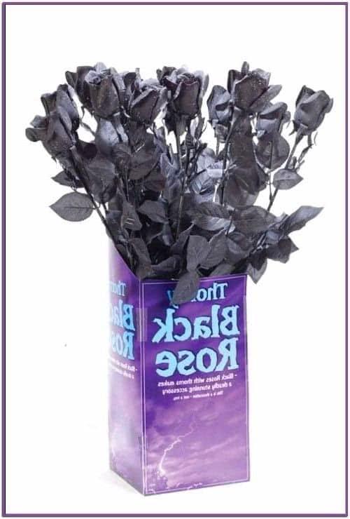 Черная готическая роза 60 см