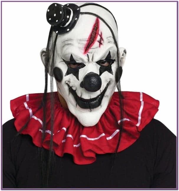 Черно белая маска клоуна