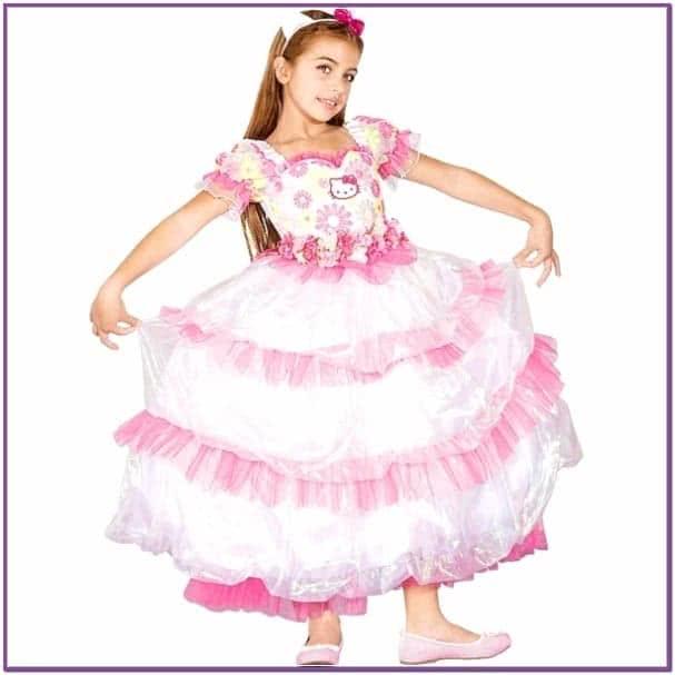 Цветочное платье Hello Kitty