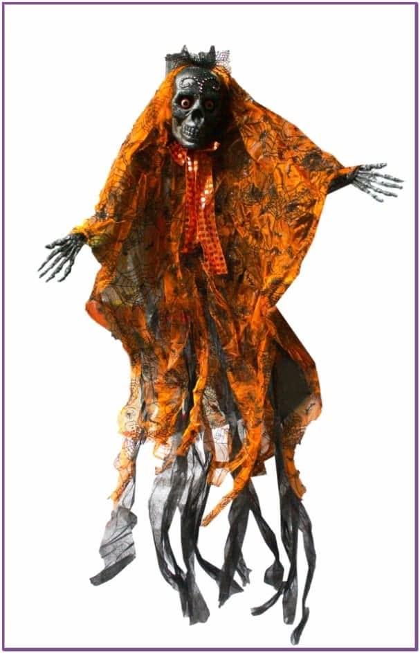 Декорация Оранжевый Скелет Модник
