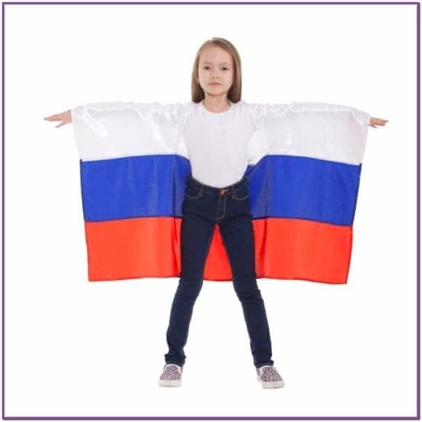 Детская накидка Россия с рукавами