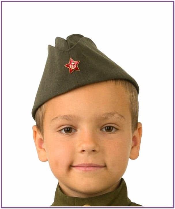 Детская пилотка солдата