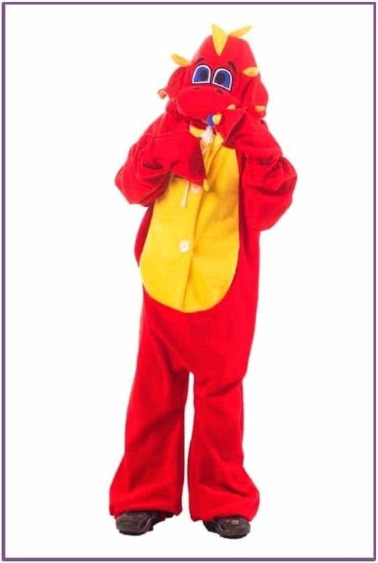 Детская пижама-кигуруми Рубиновый дракон - Купить недорого - KARNAVALNOE d23a9d62e2308