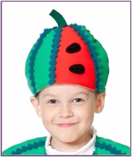 Детская шапка Арбуз