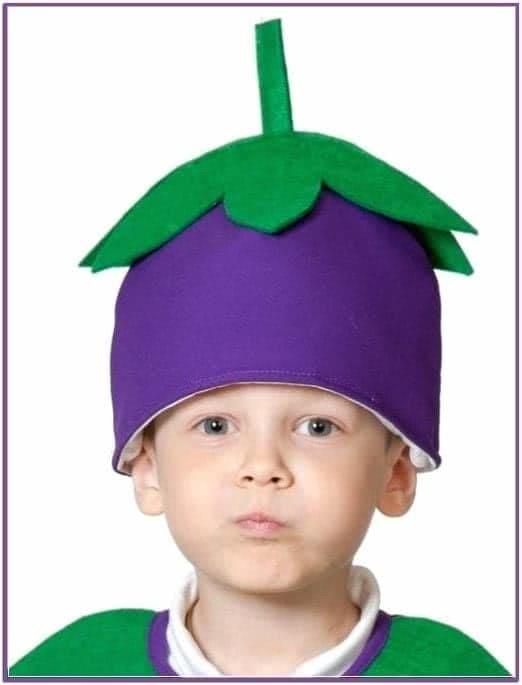 Детская шапка Баклажан