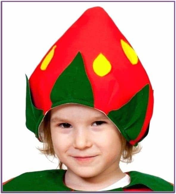 Детская шапка Клубника