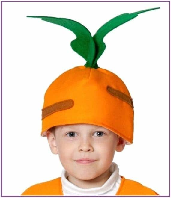 Детская шапка Морковка