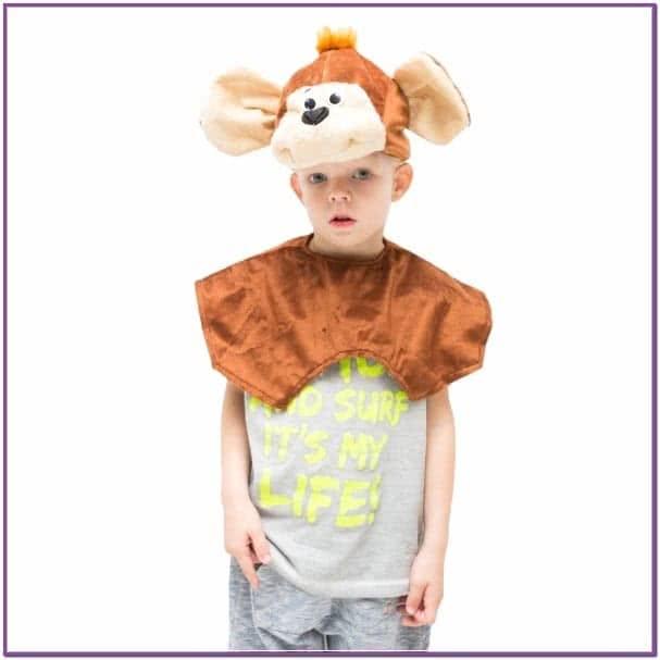 Детская шапка Обезьянка
