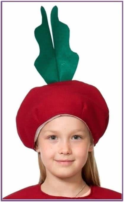 Детская шапка Свекла