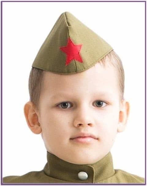 Детская военная пилотка