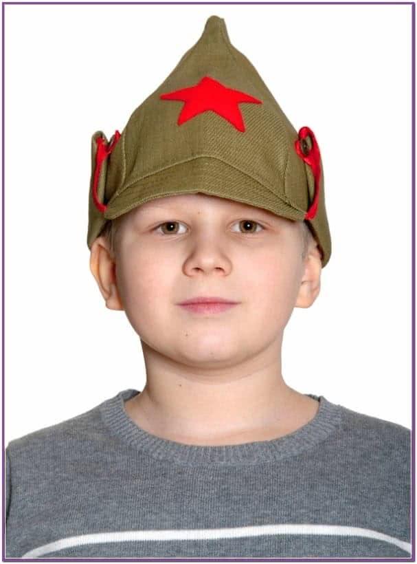 Детская военная шапка Буденовка
