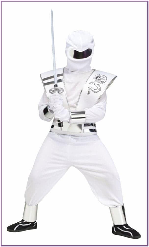 Детский белый костюм Ниндзя