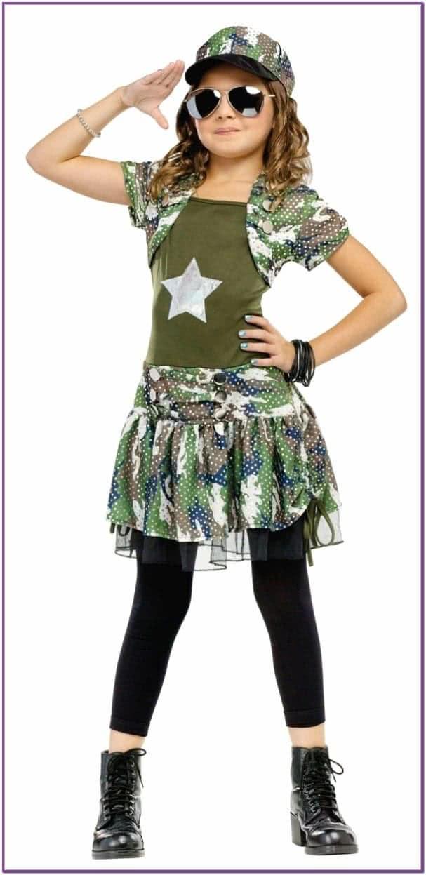 Детский костюм армейской девочки