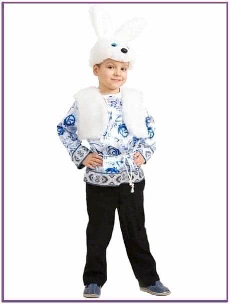 Детский костюм белого зайчика