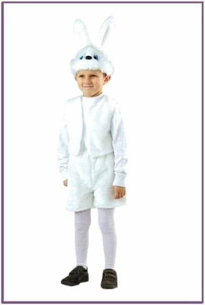 Детский костюм белого зайчонка