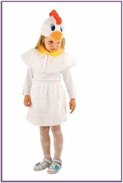 Детский костюм белой курочки