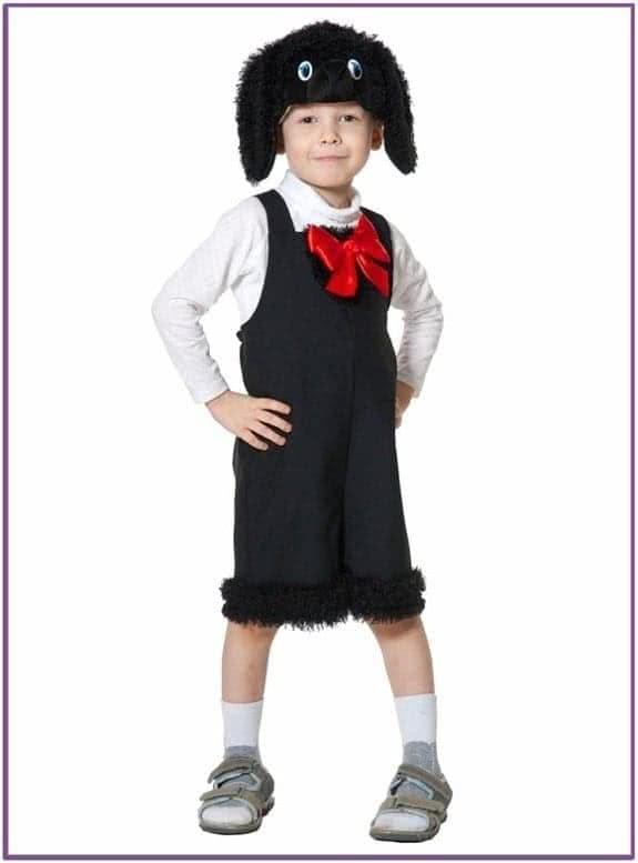 Детский костюм Черного Пуделя с бантом