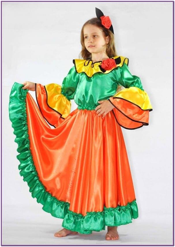 Детский костюм цыганки атласный