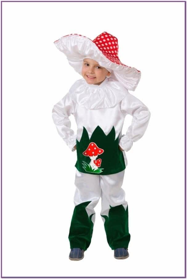 Детский костюм девочки грибочка