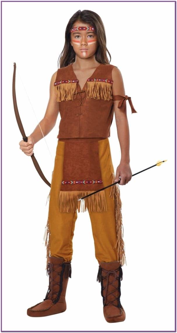 Детский костюм Индейского Юноши