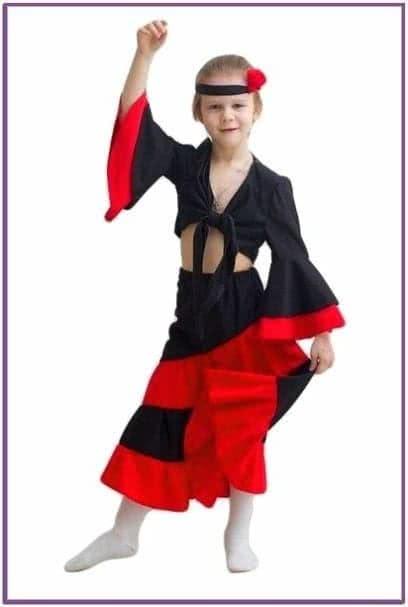 Детский костюм испанки