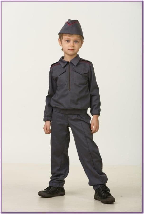 Детский костюм мальчика полицейского