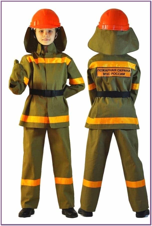 Детский костюм маленького пожарного
