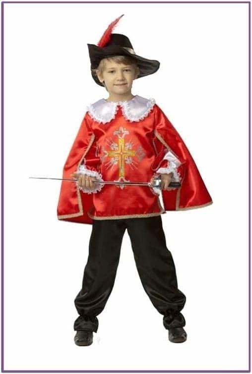 Детский костюм мушкетёра красный