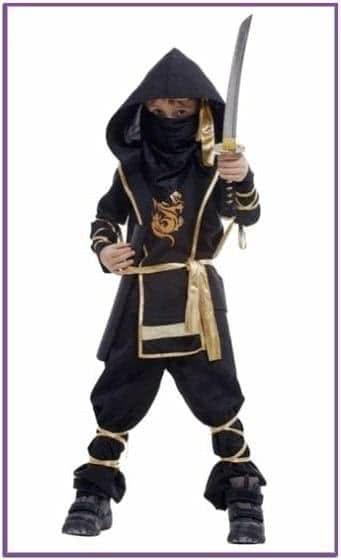 Детский костюм ночного ниндзя