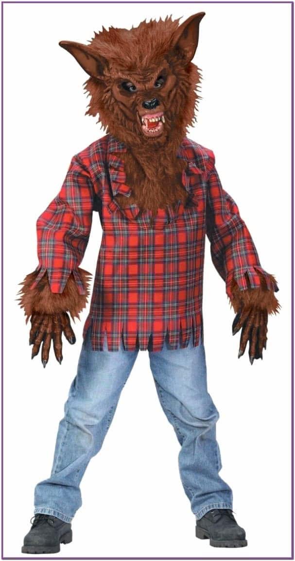 Детский костюм оборотня коричневый