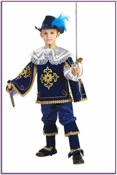 Детский костюм отважного мушкетёра