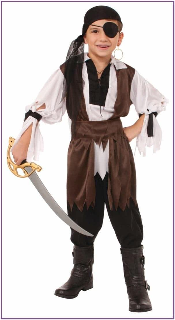 Детский костюм пирата с банданой