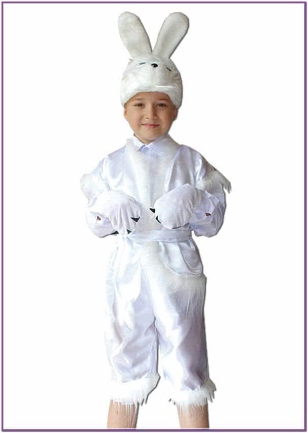 Детский костюм пушистого зайчика