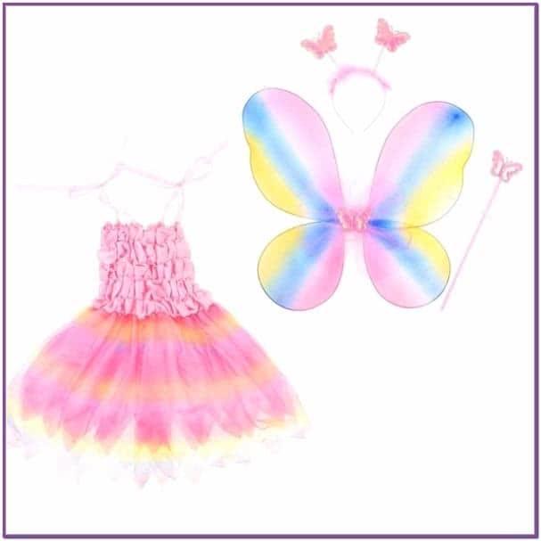 Детский костюм радужной бабочки
