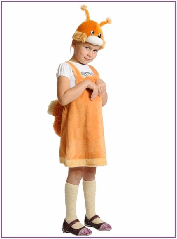 Детский костюм рыжей Белки