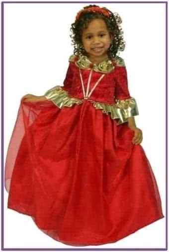 Детский костюм рубиновой королевы