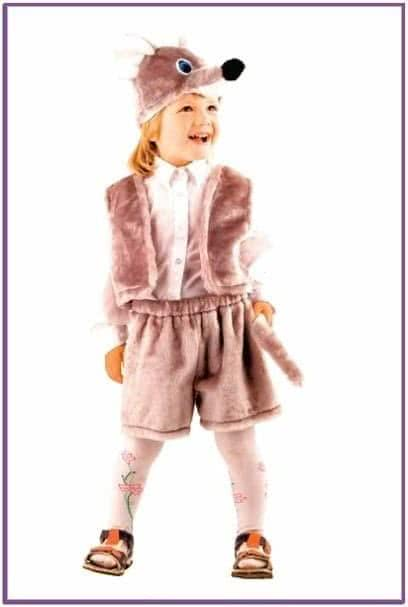 Детский костюм серенького мышонка