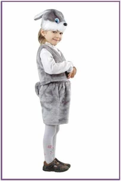 Детский костюм серенького зайчонка