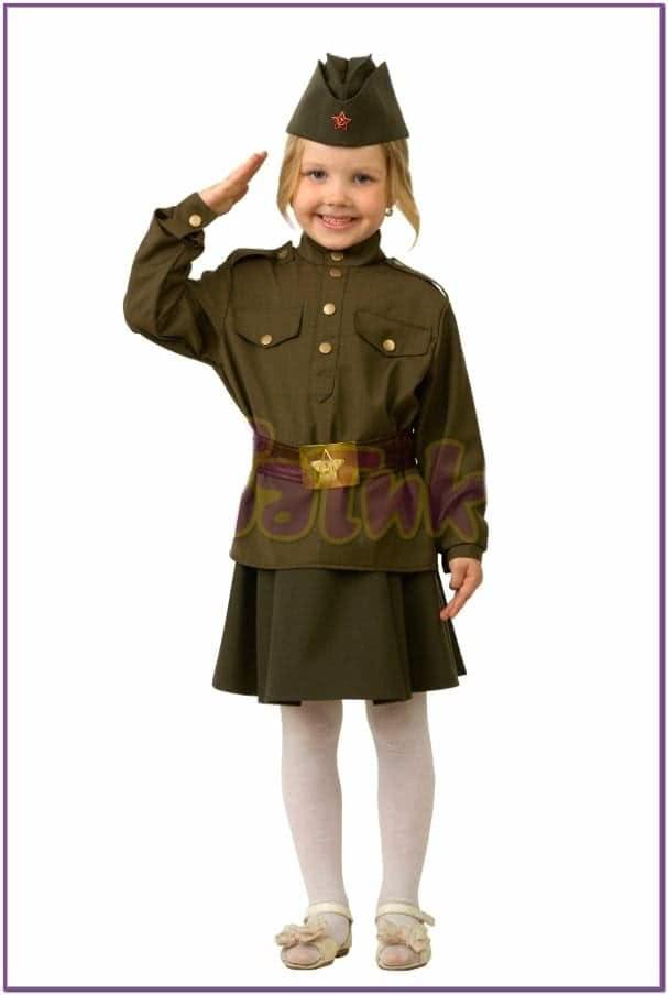 Детский костюм солдатки